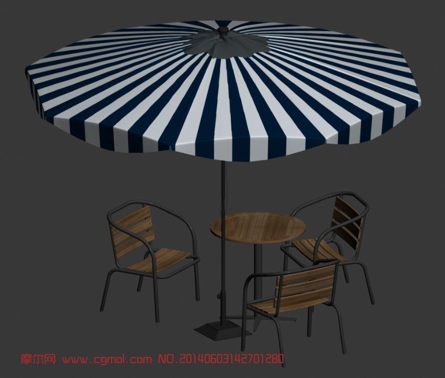 带伞椅座 休闲太阳伞
