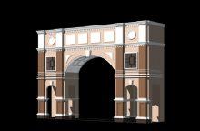 大门 小区门3D模型