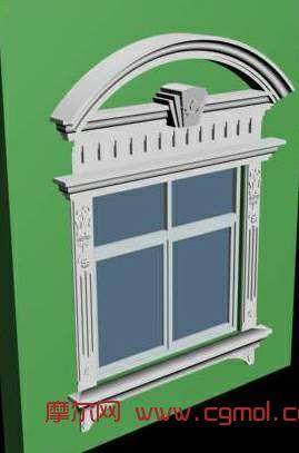 欧式窗套_国外建筑_建筑模型