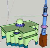 阿拉伯国家的清真寺模型