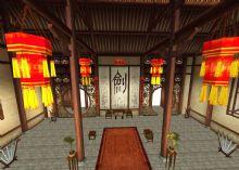 剑术大堂 古代建筑_室内3D模型