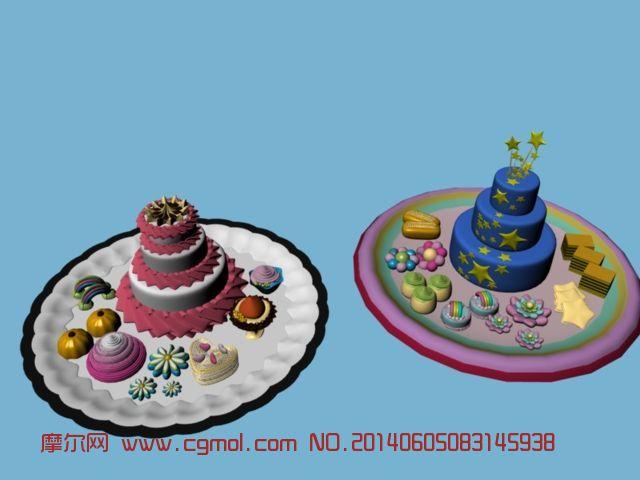 糕点 西式蛋糕3D模型