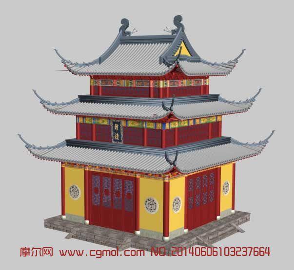 古代钟楼3D模型