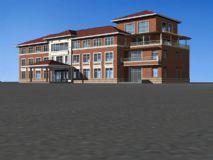 东方会所建筑3D模型