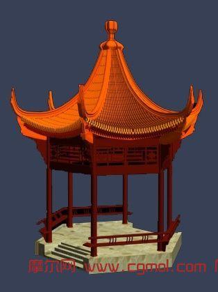 亭子3d模型下载