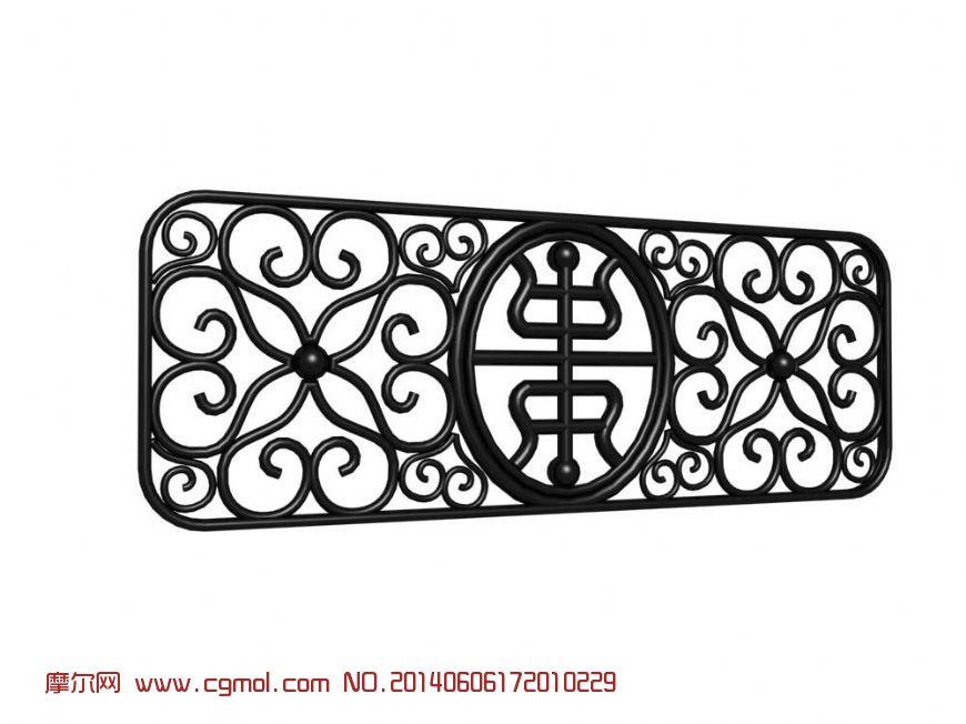 中式花窗_古代场景_场景模型
