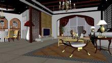 样板房客厅3D模型