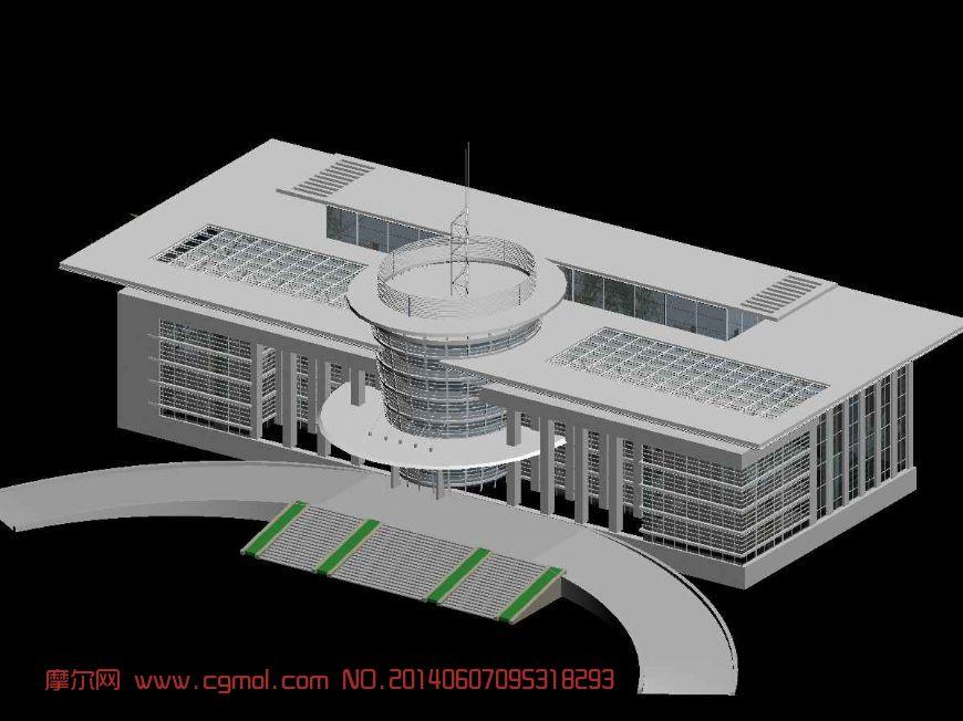 很有科技感的办公楼3D模型