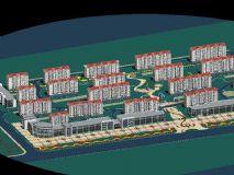 小区建设全景鸟瞰模型