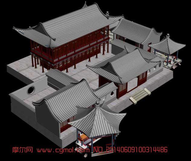 木剑3d模型 长房子maya