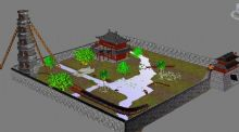 庄园3D模型 次时代游戏场景