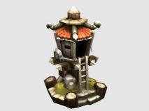 哨塔,防御塔3D模型
