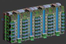 住宅楼 小区建筑模型