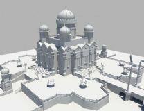 欧洲城堡  高质量白模