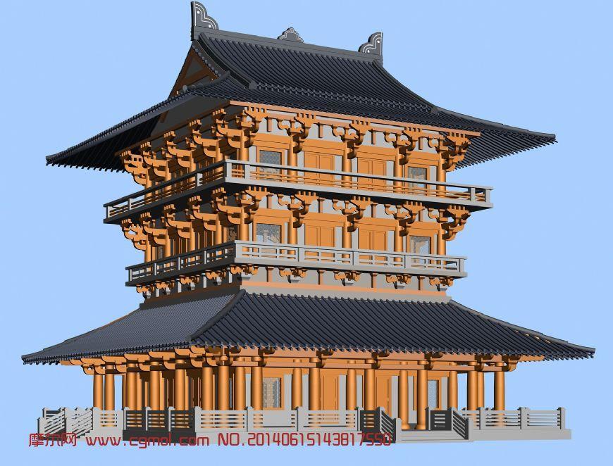 建筑模型 中式建筑  关键词:古建筑模型 作品描述