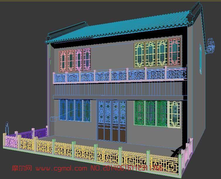 岭南风格商铺建筑 古街建筑