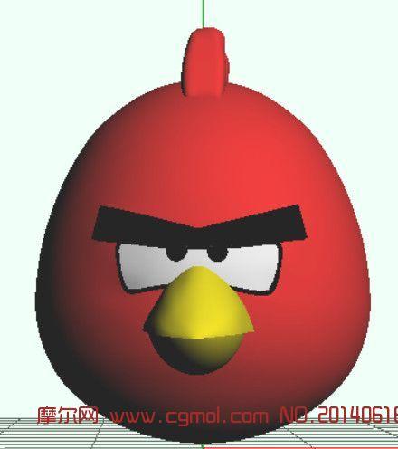 愤怒的小鸟(红)obj,mb,mqo三种格式