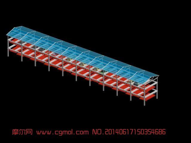 立体车库 双层停车场,其他建筑,建筑模型,3d模型下载,3D模型