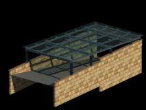 地下车库入口模型