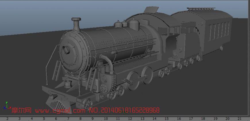 火车头_机械工具_机械模型_3d模型,3d素材免费下载