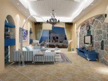 地中海客厅3D模型