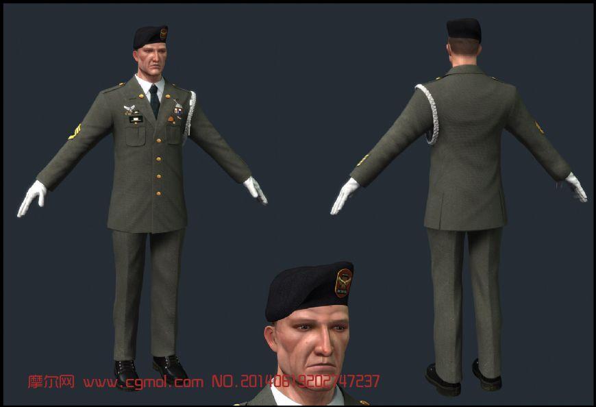 精模,德国士兵,法线贴图