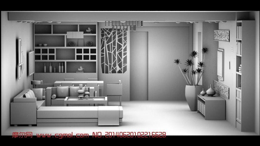客厅室内建模