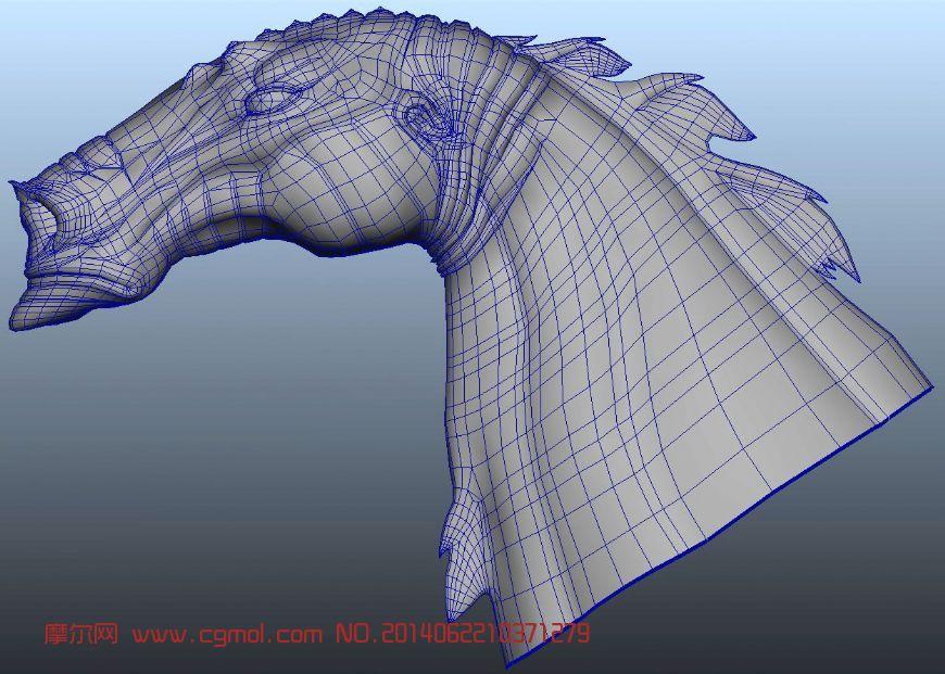高精细龙马头3D模型