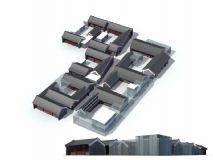 多层商业 群体古代建筑