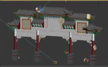 中式牌楼 牌坊3D模型