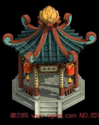 古代小亭子3d模型图片