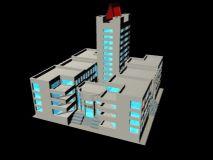 现代图书馆maya模型