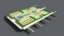 公园地形鸟瞰 商业模型