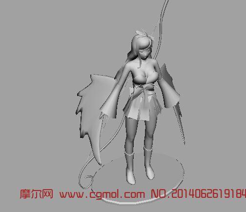 女弓箭手 动画角色