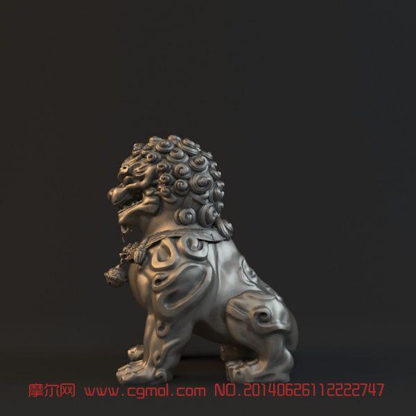 石狮精细模型(有材质)