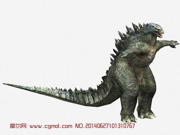 Godzilla哥斯拉3D模型 2014版