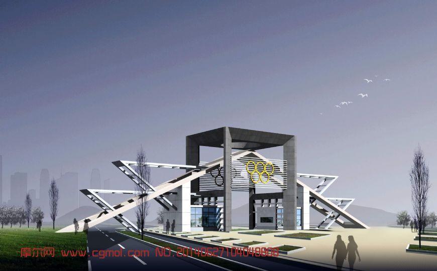 原创作品: 奥运中心办公楼大门