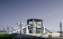 奥运中心办公楼大门