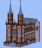 天主教堂3D模型