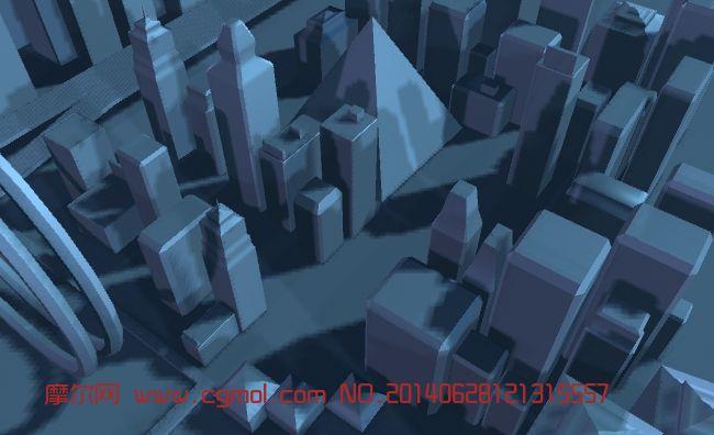 简单建筑群,配楼3D模型