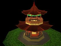 中式凉亭 亭子建筑