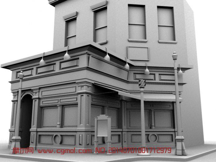 国外建筑门头3D模型