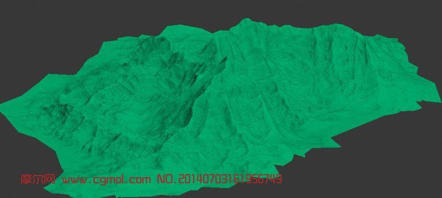 山峰,山体3D模型