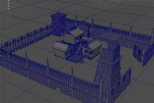古代房子场景3D模型