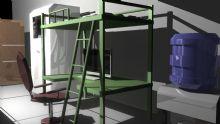 学生寝室场景