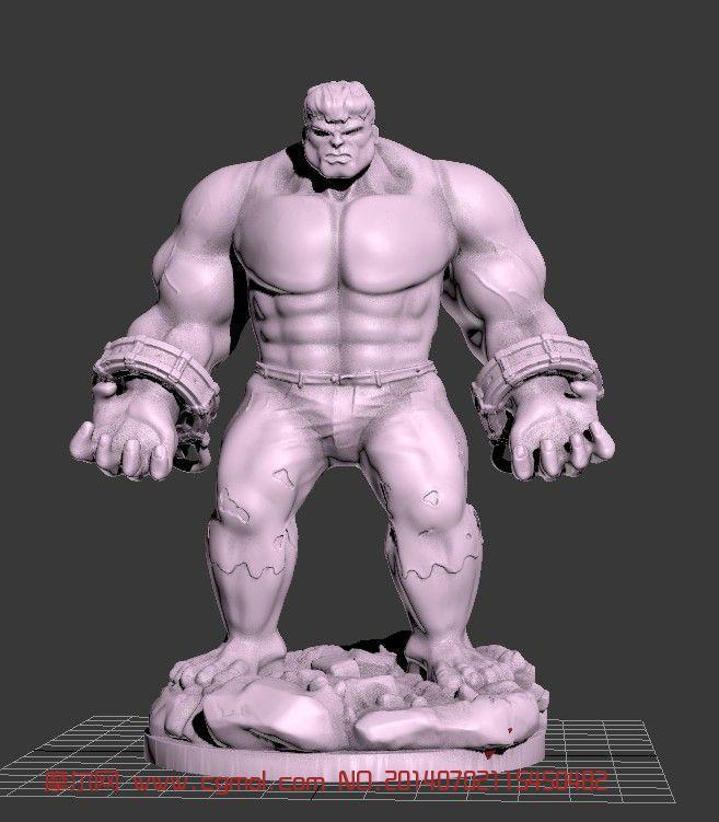 可拆解绿巨人手办模型