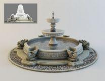 极致喷泉――带材质,喷水动画