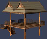 海边小亭子 观景亭3D模型