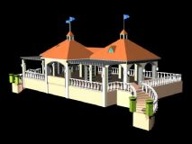 海边亭子3D模型