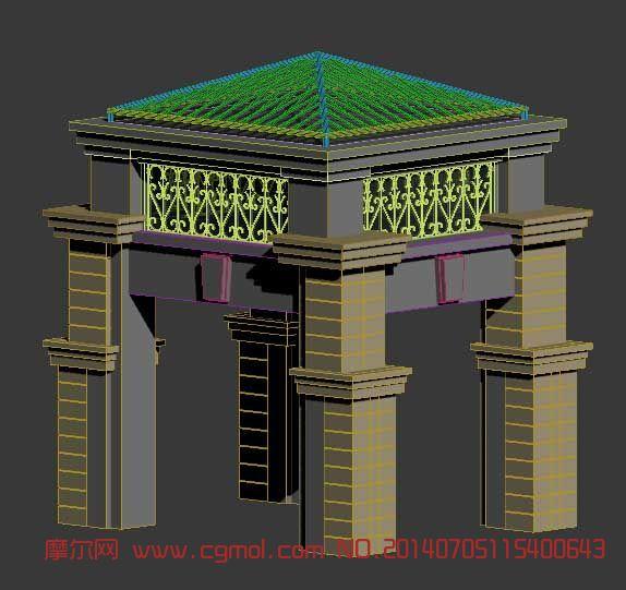 欧式亭子3D模型